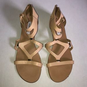Steve Madden Beige Tan Strappy Sandals